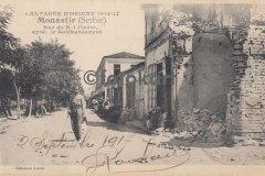 Manastır, Roi Pierre Caddesi, Bombardıman sonrası (1917)