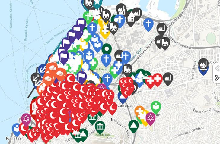İzmir Tarihi Mekan Harita