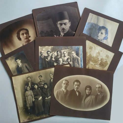 Eski ve nostaljik aile fotoğrafları.